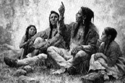 Drawing of the Eriez Indians in Conneaut Lake, PA, at the current site of Conneaut Cellars Winery.