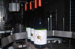 Conneaut Cellars Winery's Reisling is shown being bottled at our facility in Conneaut Lake, PA.
