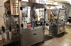 Conneaut Cellars Winery-Bottling Machine.