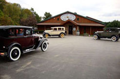 Shown:  Classic car show in the parking lot of Conneaut Cellars Winery.